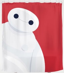Big Hero 6 Baymax Shower Curtain