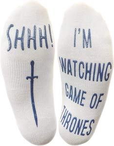Shhh! I'm Watching Game of Thrones Socks
