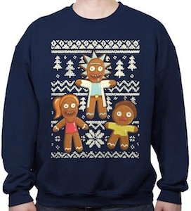 Gingerbread Rick And Morty Christmas Sweater