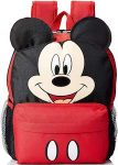Disney Kids Red And Black Mickey Mouse Backpack