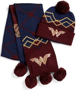 DC Comics Wonder Woman Scarf And Beanie