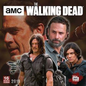 2019 The Walking Dead Wall Calendar