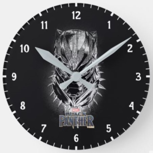 Black Panther Head Sketch Wall Clock