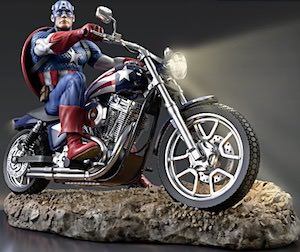Captain America On His Bike Figurine