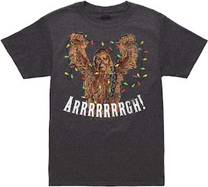 Star Wars Chewbacca Christmas Lights T-Shirt