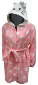 Hello Kitty Polka Dot Hooded Bath Robe