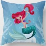 The Little Mermaid Little Ariel Throw Pillow