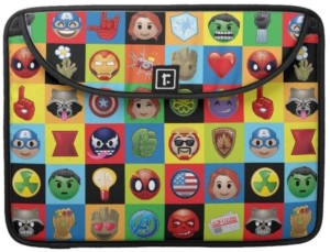 Marvel Emoji Laptop Sleeve