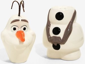 Frozen Olaf Salt And Pepper Shaker Set