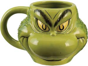 Scultped Grinch Mug