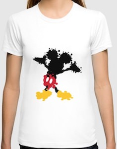Splattered Mickey Mouse T-Shirt