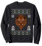 Beast Scowl Ugly Christmas Sweater