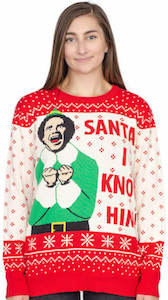 Buddy Elf Santa I Know Him Christmas Sweater