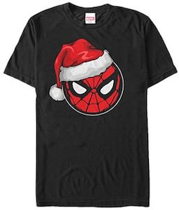 Spider-Man Face Christmas T-Shirt