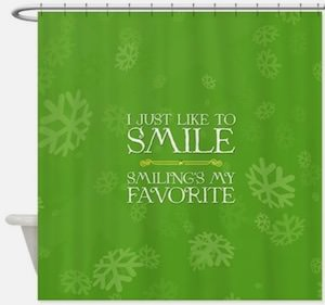 Elf I Just Like To Smile Shower Curtain