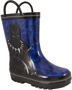 Kids Black Panther Rain Boots