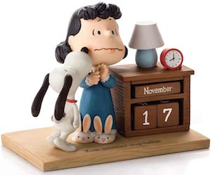 Snoopy Kisses Lucy Never Ending Calendar