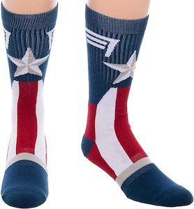 Captain America Star Socks