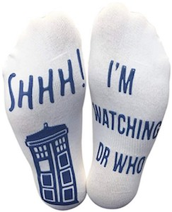 I'm Watching Dr Who Socks
