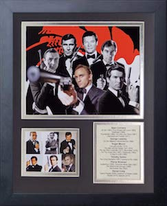 James Bond Legends Never Die Framed Photo