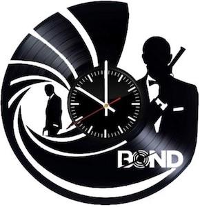 James Bond Record Wall Clock 007