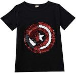 Sequins Captain America And Spider-Man T-Shirt