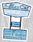 Ozark The Blue Cat Lodge Sticker