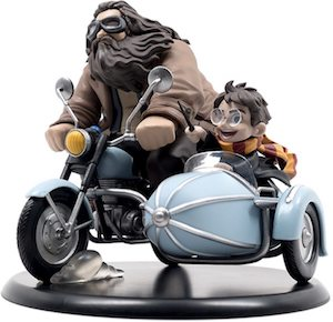 Harry Potter Hagrid And Harry On A Motorbike Figurine