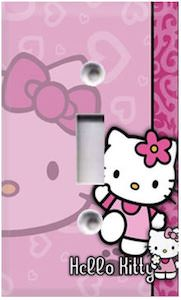 Pink Hello Kitty Light Switch Plate
