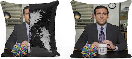 Sequin Michael The Office Pillow