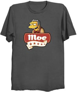 The Simpsons 5 Star Moe T-Shirt