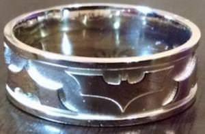Silver Batman Ring