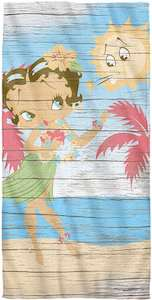 Betty Boop On The Beach Towel