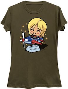 Captain Marvel Learning To Fly T-Shirt