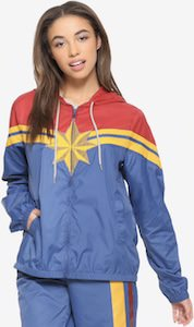 Marvel Women's Captain Marvel Windbreaker Jacket