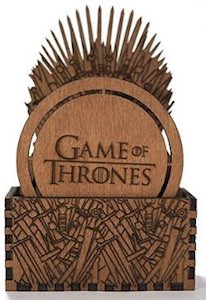 Game of Thrones Wooden Coaster Set