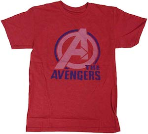 Red The Avengers Logo T-Shirt