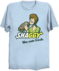 Scooby-Doo Shaggy Eating A Sandwich T-Shirt