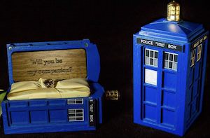 Tardis Ring Box for your engagement ring
