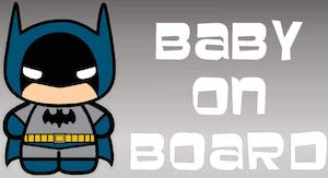Batman Baby On Board Window Decal