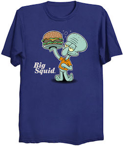 Big Squid The Squidward Burger T-Shirt