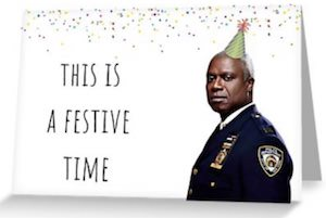 Captain Raymond Holt Greeting Card