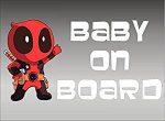 Deadpool Baby On Board Window Decal