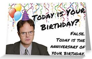 The Office Dwight Birthday Anniversary Card