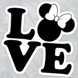 Love Minnie Mouse Sticker