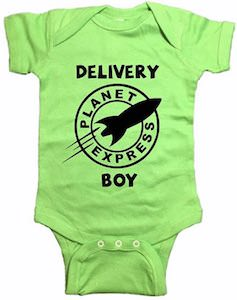 Planet Express Delivery Boy Baby Bodysuit