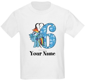 Rainbow Dash 6th Birthday T-Shirt