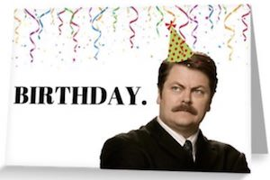 Ron Swanson Birthday Card
