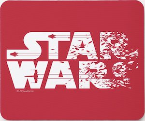 Star Wars Logo Mousepad In Red
