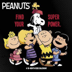 2020 Peanuts SuperPower Wall Calendar